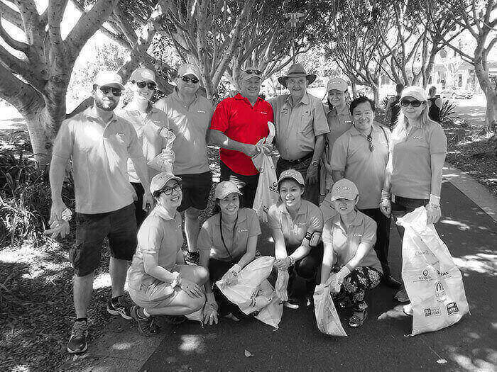 Australia business clean up day