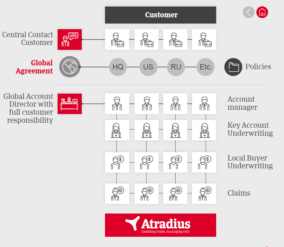New service structure Global