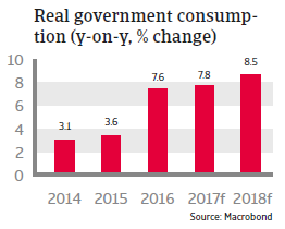 CEE Turkey 2017 Real government consumption