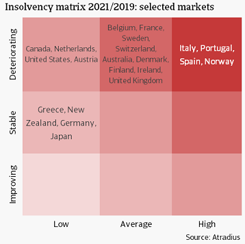 4 Insolvency matrix 2021/2019