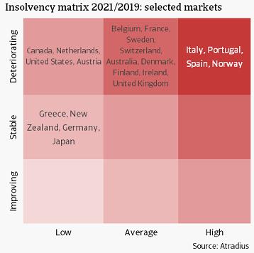4 Insolvency matrix 2021/2019