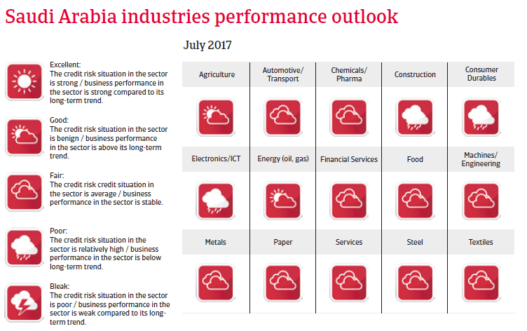 MENA Saudi Arabia 2017 Industries performance forecast