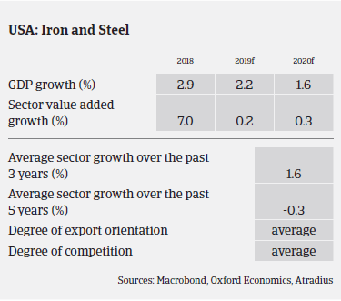 US iron and steel sectors' expected growth in the coming years