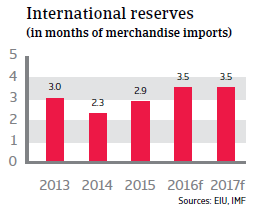 Egypt international reserves
