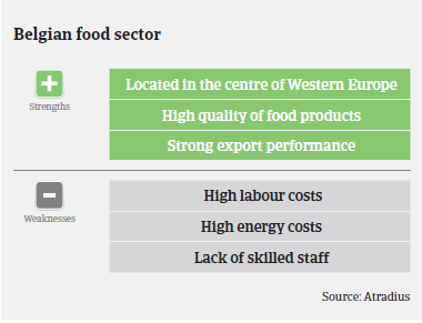 Belgian food sector: strengths and weaknesses